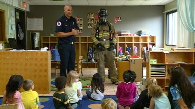 Fire Dept. Teaches Students About Fire Safety