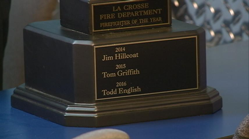 Todd English named Firefighter of the Year for 2016
