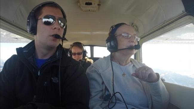 Local woman gets flight of a lifetime