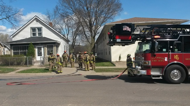 No one injured after car hits gas line in La Crosse