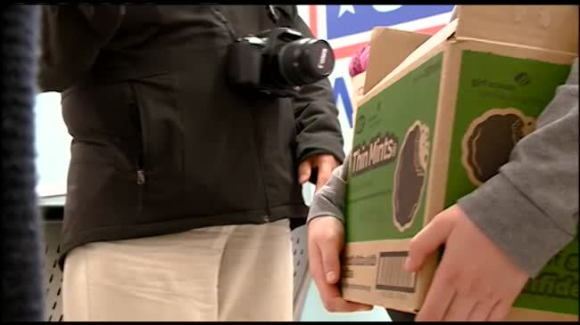 Girl Scouts team up with USO to send cookies to troops