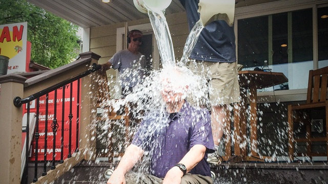 Gov. Dayton takes 'Ice Bucket Challenge' at State Fair