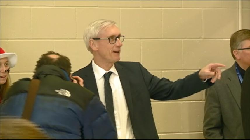 Wisconsin Governor Evers tours state day after making budget proposal