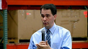 Walker says he's not going to raise sales tax