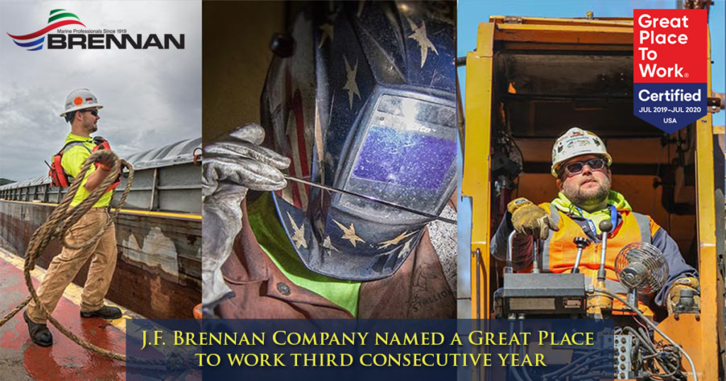 J.F. Brennan Company named 'Great Place to Work' for third consecutive year