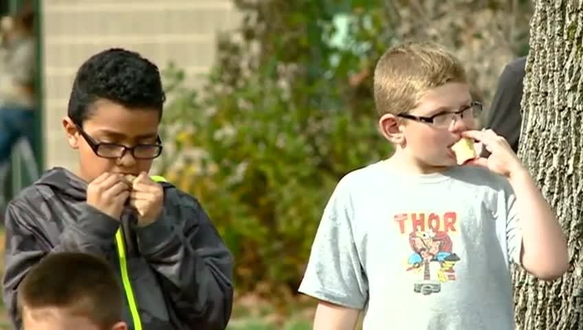 'Great Apple Crunch' gives students a taste of local produce