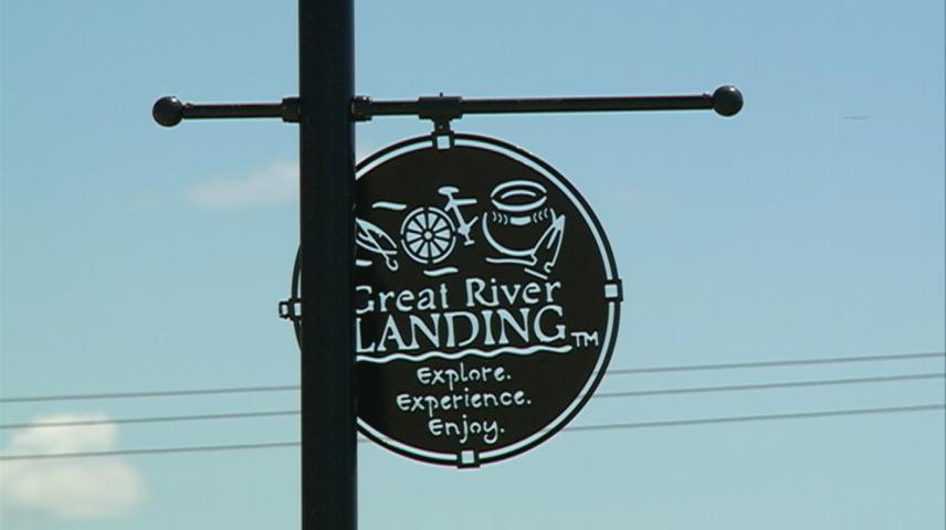 Great River Landing first phase, trailhead building near completion