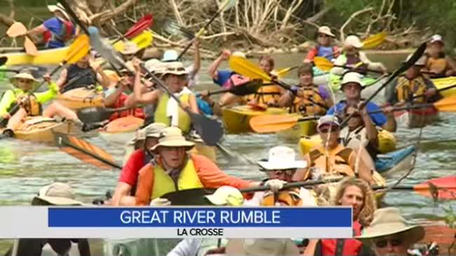 Great River Rumble brings dozens of kayakers to Root, Mississippi Rivers