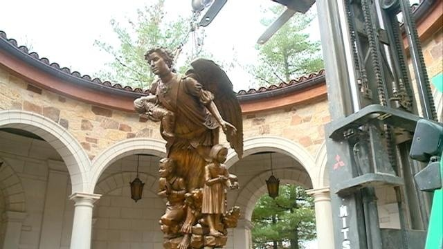 Angel statue unveiled at Shrine of Our Lady of Guadalupe