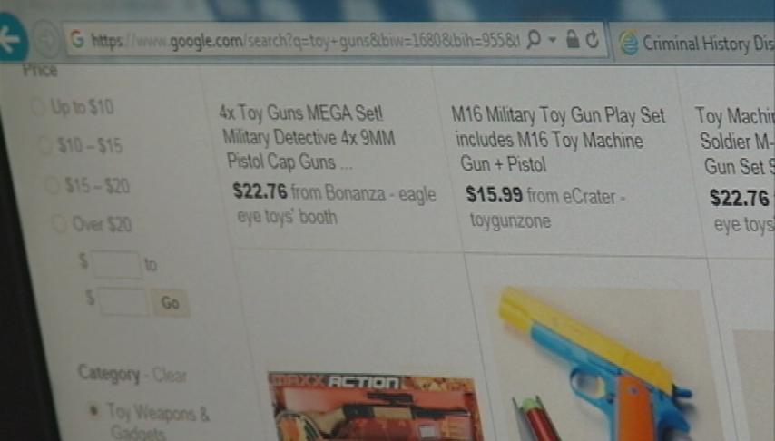 Realistic toy gun warnings for Christmas shoppers
