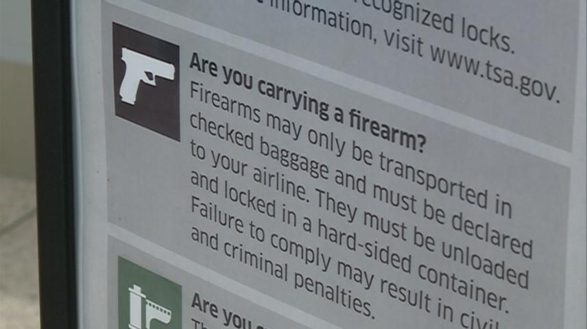 Record number of guns discovered at airport security checkpoints