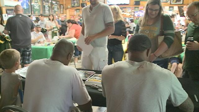 A Green Bay Packer makes a local appearance for charity