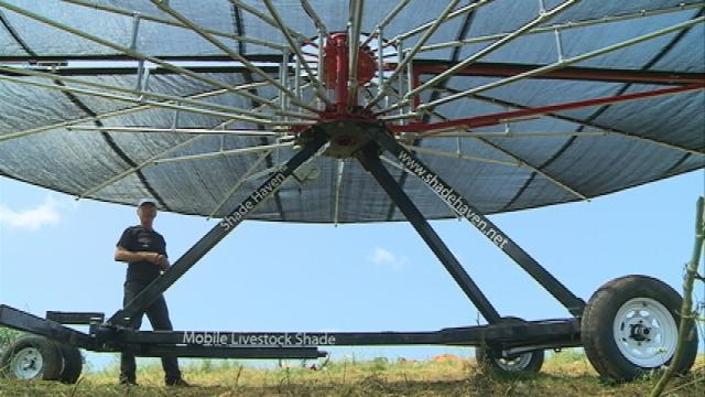 Local farmer builds unique shade machine