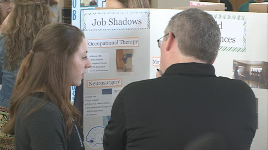La Crosse Health Science Academy students present their learning
