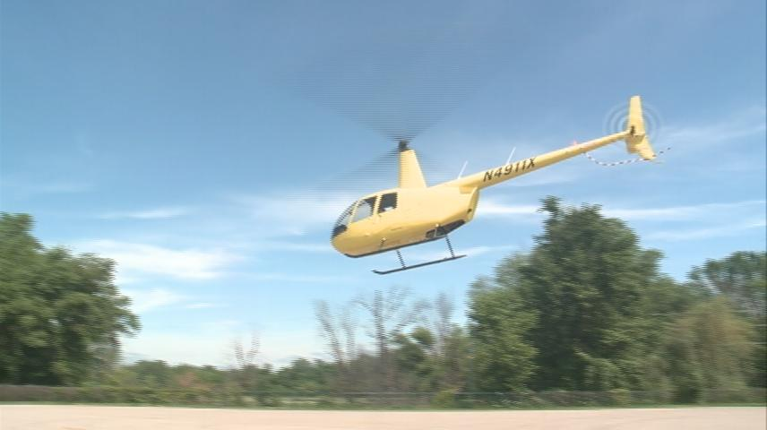 Helicopter rides available at Riverfest