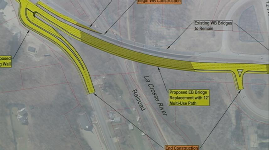 Replacement plans for Highway 16 bridge in La Crosse displayed to public