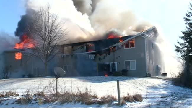 Holmen agencies helping those affected by apartment fire