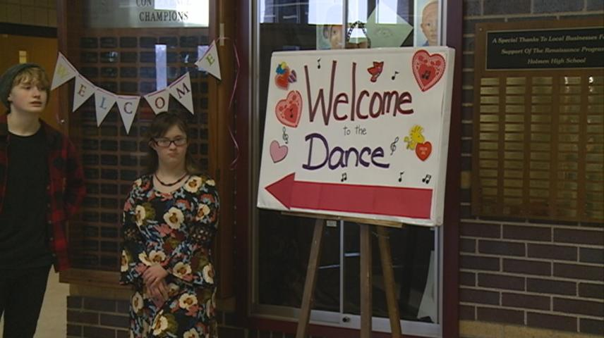 Hundreds of local students enjoyed Valentine's Day Dance in Holmen