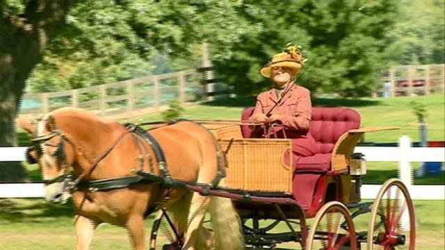 Villa Louis carriage competition return people to the 1800's