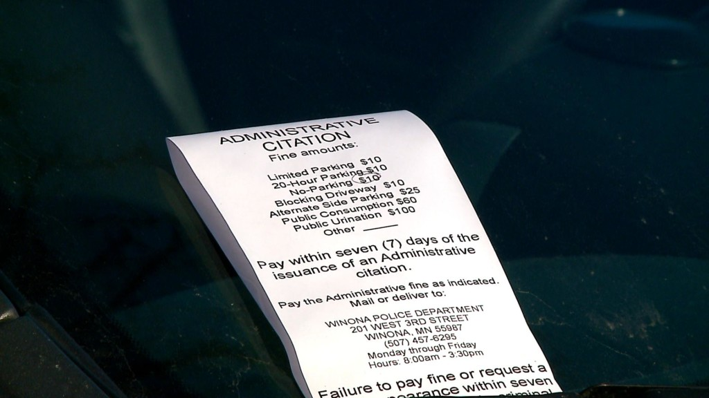 Parking changes on Huff Street in Winona