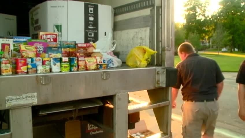 Morning show anniversary food drive benefits local food pantry