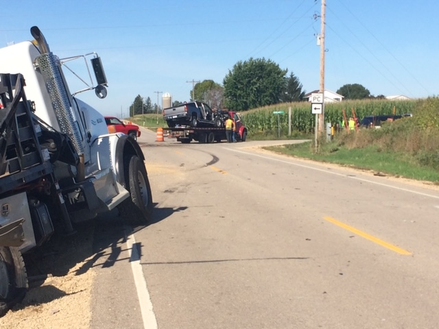 UPDATE: One dead, three with life-threatening injuries in crash near Cashton
