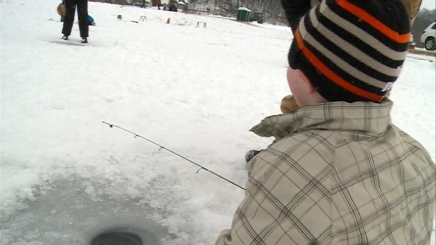 Kids Ice Fishing day at National Fish Hatchery