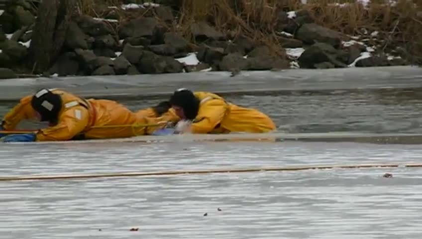 Fire Department trains for ice rescues