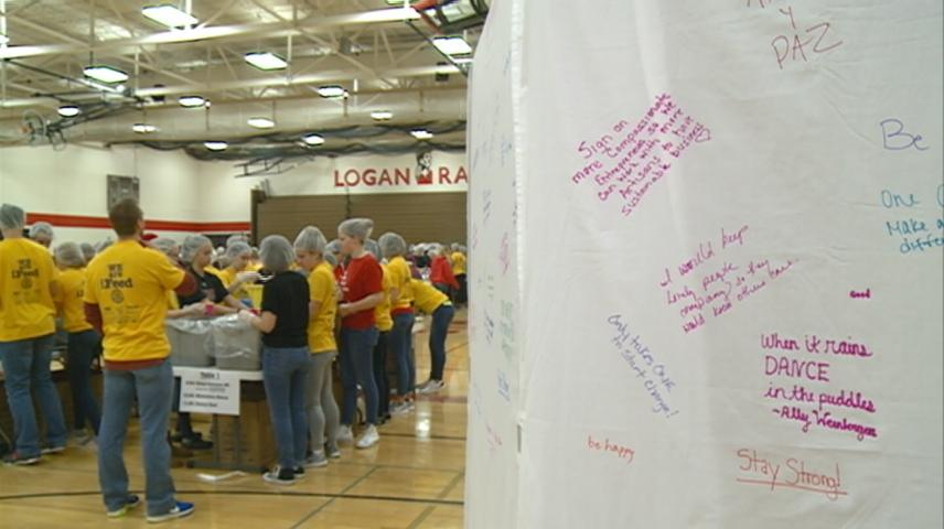 iFeed students in La Crosse put together more than 78,000 meals