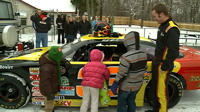 La Crosse family surprised with Christmas delivered in a race car