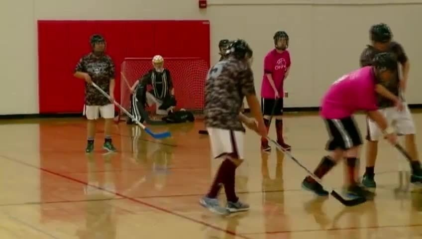 Area students with special needs compete in floor hockey tourney