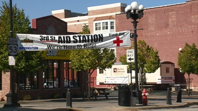 Third Street Aid Station sets up for 10th year at Oktoberfest