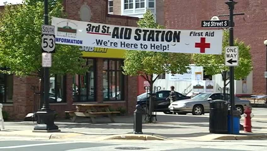 3rd St. Aid Station back downtown for Oktoberfest