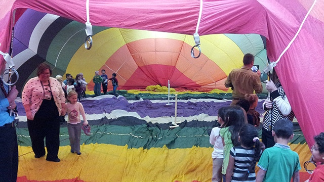 Hot air balloon presentation helps Arcadia students aim high