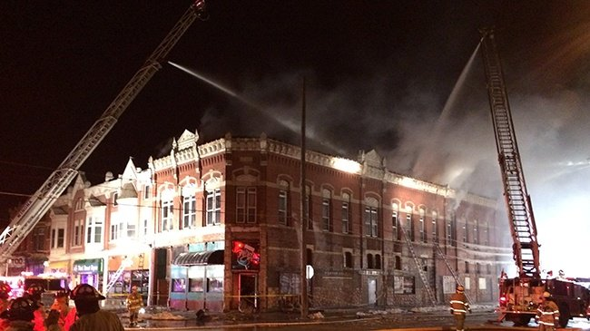 Firefighters battle overnight fire in downtown Winona