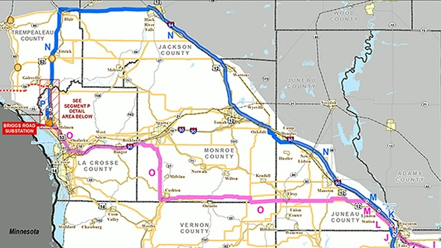 Badger Coulee Transmission Line to travel through northern route