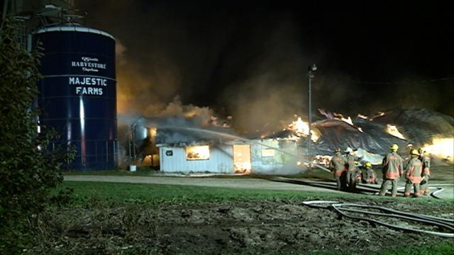 Man injured, cattle lost in Vernon County barn fire