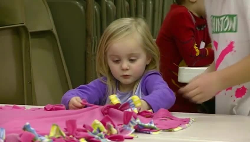 Students wear pajamas to school for good cause