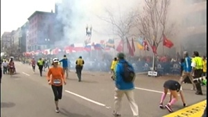 Local runners crossed finish line minutes before explosions