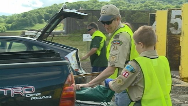 Boy Scouts kick off annual 'Scrap-a-thon'