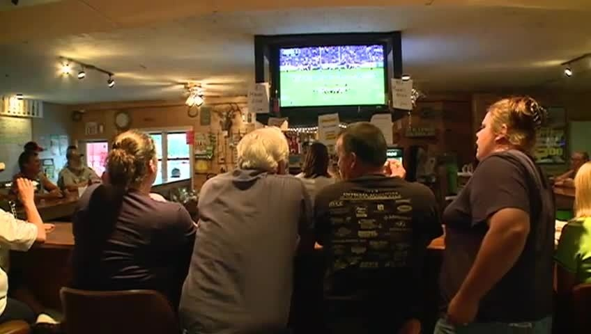 Caledonia cheers on hometown boys in NFL match-up