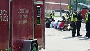 Local emergency responders review mass casualty response drill