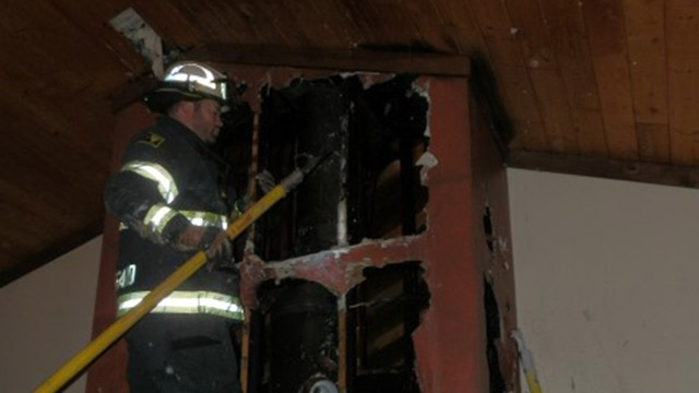 Family evacuated after chimney fire