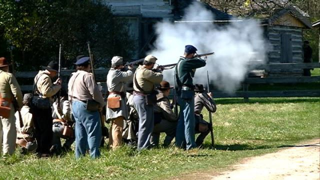 More than 50 actors participate in American Civil War reinactment