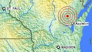 USGS says earthquake shook Wisconsin city
