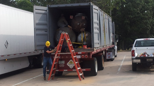 Driver carrying nuclear waste asks truck to be checked