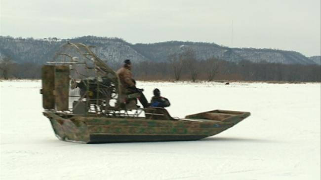 Wis. DNR practices using air boats on river