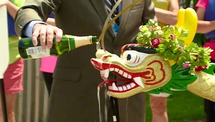 Two new dragon boats christened for upcoming festival