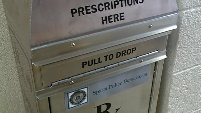 Unwanted medication drop box installed at Sparta PD