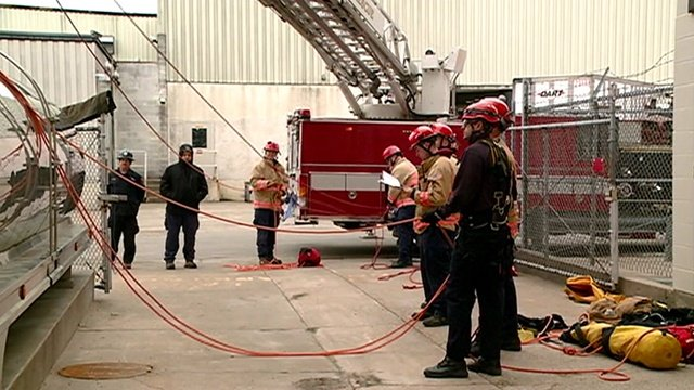 La Crosse firefighters do confined space training at City Brewery